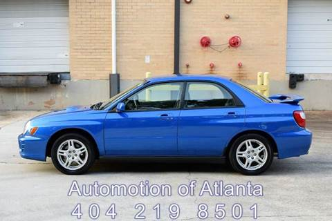 2002 Subaru Impreza for sale at Automotion Of Atlanta in Conyers GA
