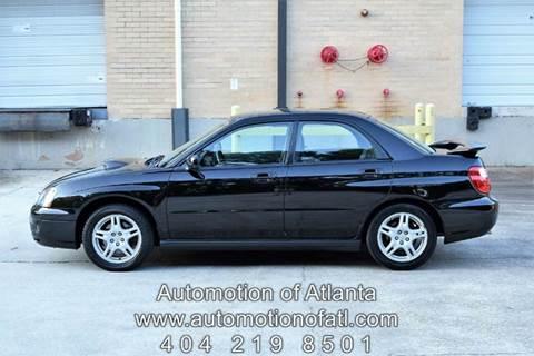 2004 Subaru Impreza for sale at Automotion Of Atlanta in Conyers GA