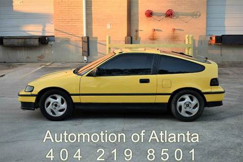 1990 Honda Civic CRX for sale at Automotion Of Atlanta in Conyers GA