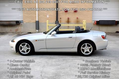 2002 Honda S2000 for sale in Tucker, GA