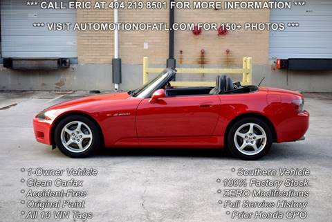 2001 Honda S2000 for sale in Tucker, GA