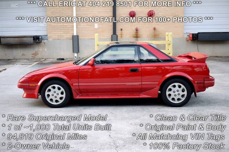 1988 Toyota Mr2 Supercharged 2dr Coupe In Tucker GA