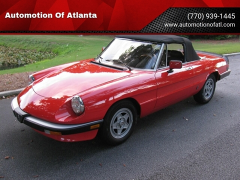 1984 Alfa Romeo Spider for sale at Automotion Of Atlanta in Conyers GA