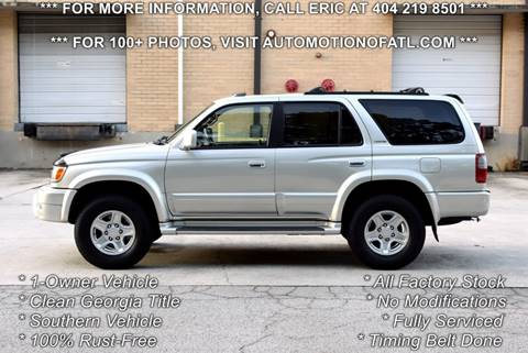 1999 Toyota 4Runner for sale at Automotion Of Atlanta in Conyers GA