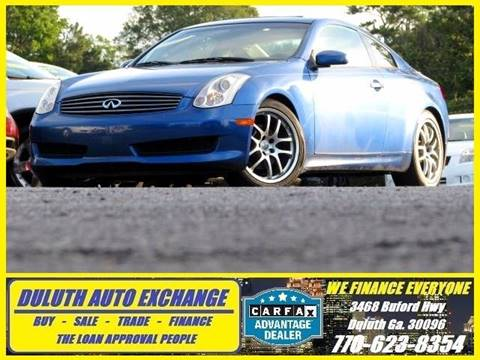 2007 Infiniti G35 for sale at Duluth Auto Exchange in Duluth GA