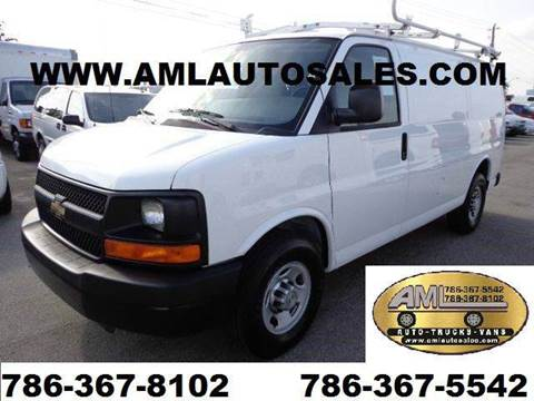 2010 Chevrolet Express G-2500 G2500 G 2500 for sale at AML AUTO SALES - Cargo Vans in Opa-Locka FL