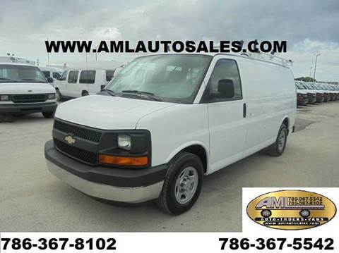2008 Chevrolet Express G-1500 G1500 G 1500 for sale at AML AUTO SALES - Cargo Vans in Opa-Locka FL