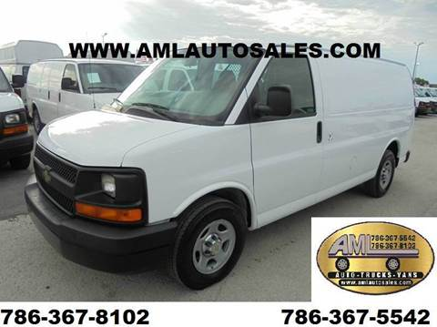 2008 Chevrolet Express Cargo for sale at AML AUTO SALES - Cargo Vans in Opa-Locka FL