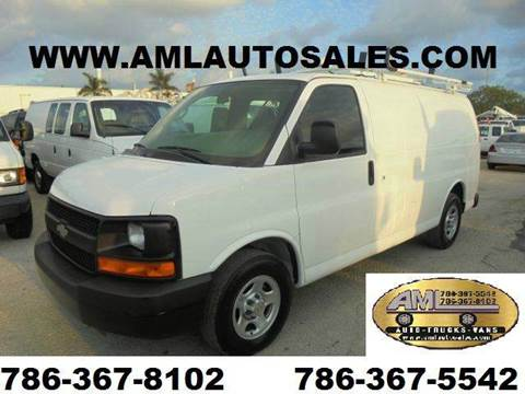 2006 Chevrolet Express G-1500 G1500 G 1500 Ca for sale at AML AUTO SALES - Cargo Vans in Opa-Locka FL
