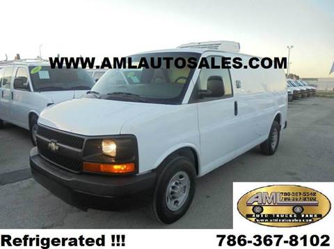 2009 Chevrolet Express G-2500 G2500 G 2500 Re for sale at AML AUTO SALES - Cargo Vans in Opa-Locka FL