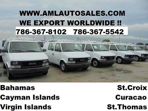2001 GMC Safari Cargo for sale at AML AUTO SALES - Cargo Vans in Opa-Locka FL