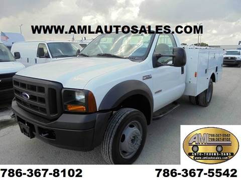 2006 Ford F-450 Super Duty for sale at AML AUTO SALES - Utility Trucks in Opa-Locka FL