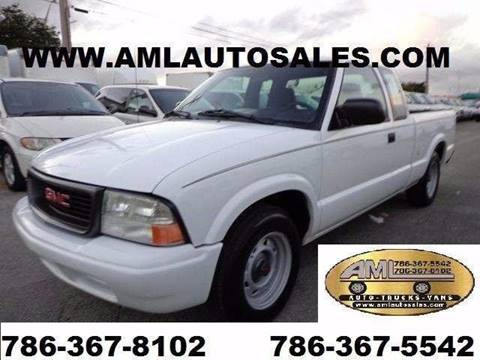 2003 GMC / Chevrolet Sonoma S-10 Ext  PickUp Truck  for sale at AML AUTO SALES - Pick-up Trucks in Opa-Locka FL