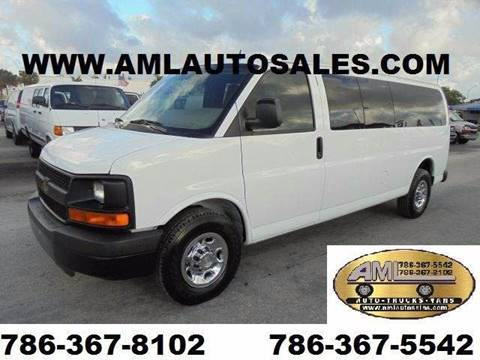 2011 Chevrolet express Extended *Passenger Van* for sale at AML AUTO SALES - Passenger Vans in Opa-Locka FL