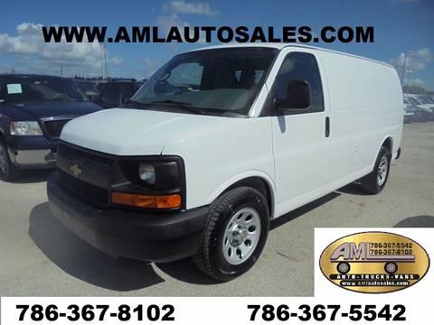 2014 Chevrolet Express Cargo for sale at AML AUTO SALES - Cargo Vans in Opa-Locka FL