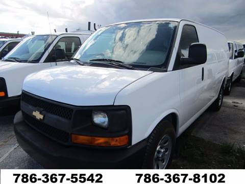 2014 Chevrolet Express G-1500 G 1500 G1500 for sale at AML AUTO SALES - Cargo Vans in Opa-Locka FL