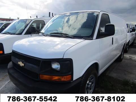 2014 Chevrolet Express G-1500 G 1500 G1500 for sale at AML AUTO SALES - Cargo Vans in Opa-Locka FL