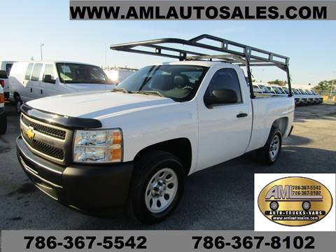 2013 Chevrolet Silverado 1500 2dr Regular Cab for sale at AML AUTO SALES - Utility Trucks in Opa-Locka FL