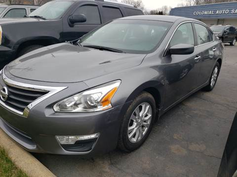 2015 Nissan Altima 2.5 S for sale at COLONIAL AUTO SALES in North Lima OH