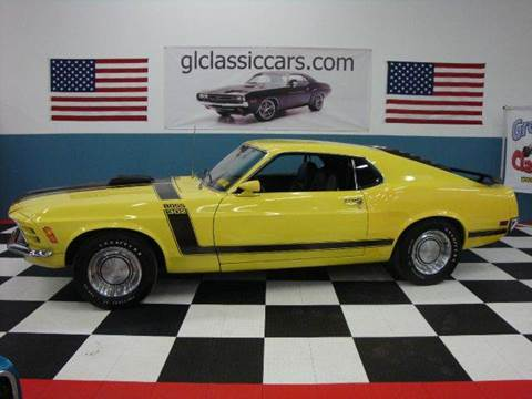 1970 Ford Mustang Boss 302 for sale at Great Lakes Classic Cars & Detail Shop in Hilton NY
