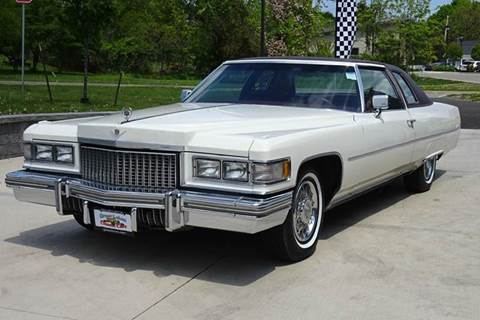 1975 Cadillac DeVille for sale at Great Lakes Classic Cars & Detail Shop in Hilton NY