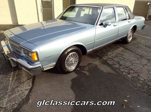 1985 Chevrolet Caprice for sale at Great Lakes Classic Cars & Detail Shop in Hilton NY