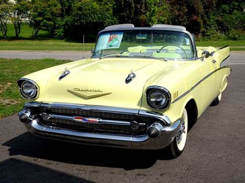 1957 Chevrolet Bel Air for sale at Great Lakes Classic Cars & Detail Shop in Hilton NY