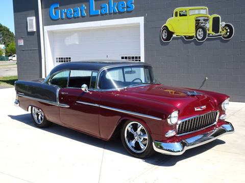 1955 Chevrolet Bel Air for sale at Great Lakes Classic Cars & Detail Shop in Hilton NY