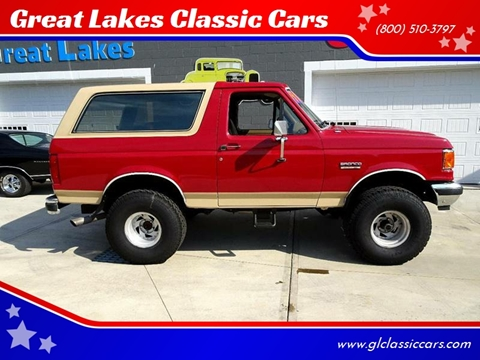1990 Ford Bronco for sale at Great Lakes Classic Cars in Hilton NY