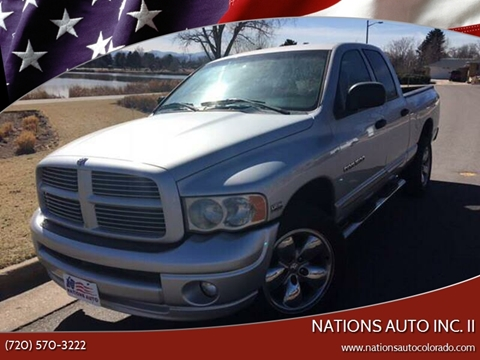 2005 Dodge Ram Pickup 1500 for sale at Nations Auto Inc. II in Denver CO