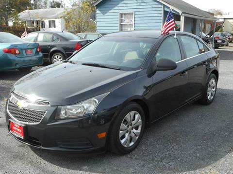 2012 Chevrolet Cruze for sale at D&S IMPORTS, LLC in Strasburg VA