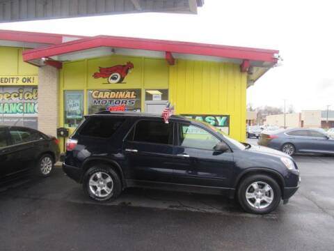 2011 GMC Acadia for sale at Cardinal Motors in Fairfield OH