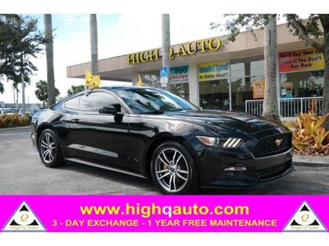2015 Ford Mustang for sale in Plantation, FL