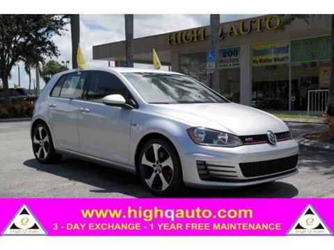 2015 Volkswagen Golf GTI for sale in Plantation, FL
