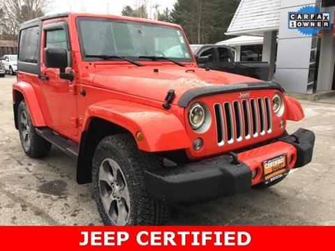 2016 Jeep Wrangler for sale in Warrensburg, NY