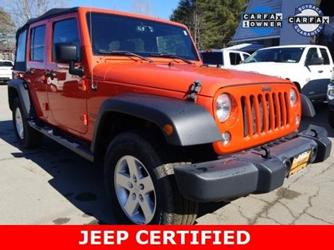 2015 Jeep Wrangler Unlimited for sale in Warrensburg, NY