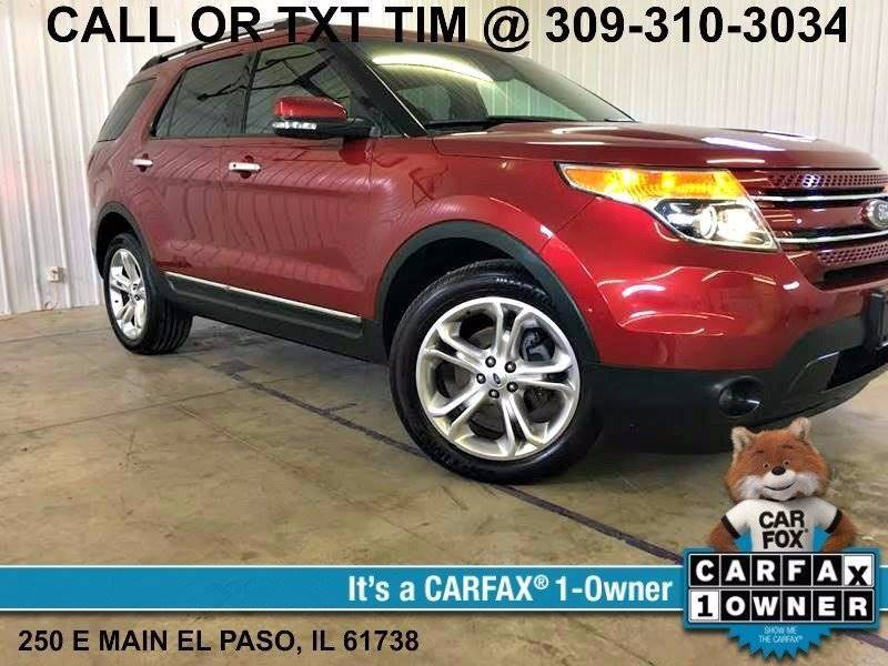 2013 Ford Explorer AWD Limited 4dr SUV - 250 E Main Street IL