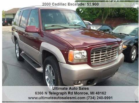 2000 Cadillac Escalade for sale in Monroe, MI