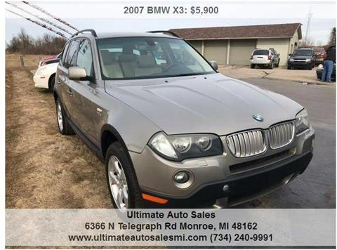2007 BMW X3 for sale in Monroe, MI
