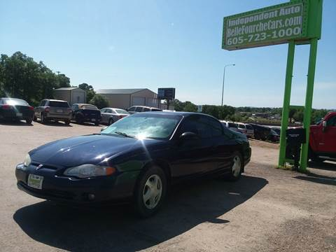 2002 Chevrolet Monte Carlo for sale at Independent Auto in Belle Fourche SD
