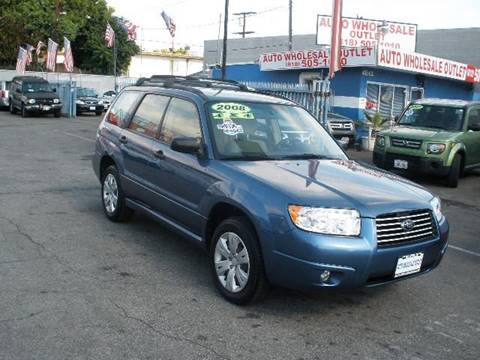 2008 Subaru Forester for sale at Auto Wholesale Outlet in North Hollywood CA