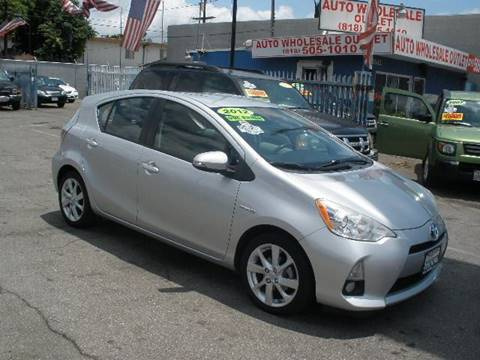 2012 Toyota Prius c for sale at Auto Wholesale Outlet in North Hollywood CA
