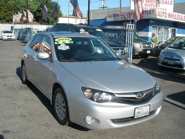 2010 Subaru Impreza for sale at Auto Wholesale Outlet in North Hollywood CA