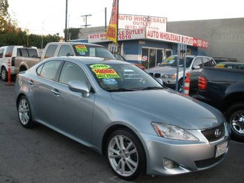 2006 Lexus IS 250 for sale at Auto Wholesale Outlet in North Hollywood CA