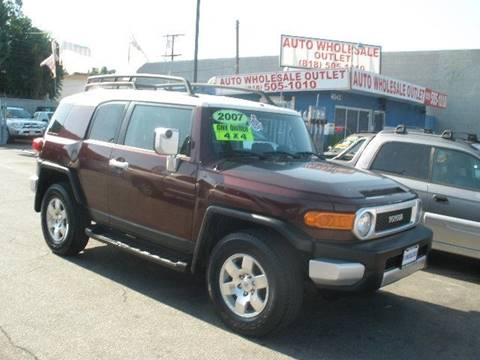2007 Toyota FJ Cruiser for sale at AUTO WHOLESALE OUTLET in North Hollywood CA
