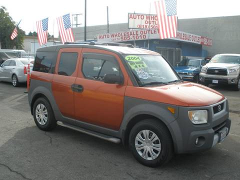 2004 Honda Element EX for sale at AUTO WHOLESALE OUTLET in North Hollywood CA