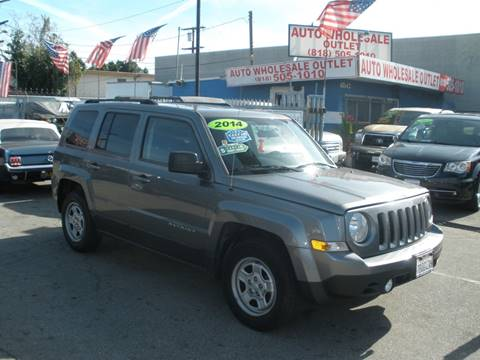 2014 Jeep Patriot Sport for sale at AUTO WHOLESALE OUTLET in North Hollywood CA