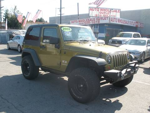 2008 Jeep Wrangler X for sale at AUTO WHOLESALE OUTLET in North Hollywood CA