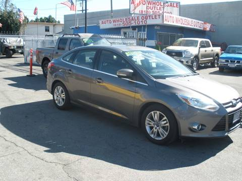 2012 Ford Focus SEL for sale at AUTO WHOLESALE OUTLET in North Hollywood CA