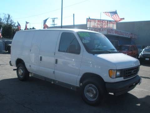 2003 Ford E-Series Cargo E-250 for sale at AUTO WHOLESALE OUTLET in North Hollywood CA